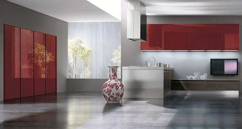 Cocinas en rojo pasión - Cocinas con estilo