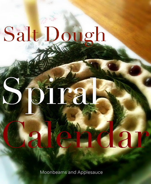 Salt Dough Spiral Countdown Calendar for Yule | 50 Awesome DIY Yule Decorations and Craft Ideas You Can Make for the Winter Solstice