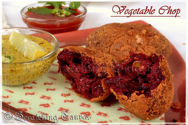 Bengali Beetroot Vegetable Chop