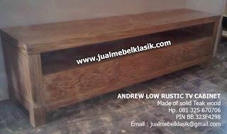 Supplier mebel solid jati furniture jati polos mebel bufet tv jati tpk