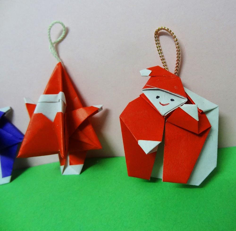 Origami Santa Ornament: Beautiful Origami Art