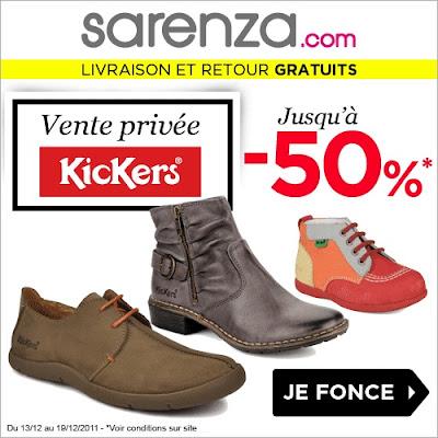 Vente Privée Kickers par Sarenza