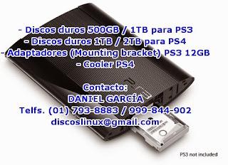 Disco duro para PS3 en Lima Peru Venta instalacion 500GB, 1 TB PS3 Slim, PS3 Super Slim
