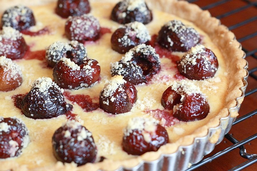 Lemon Drop: Cherry Almond Custard Tart
