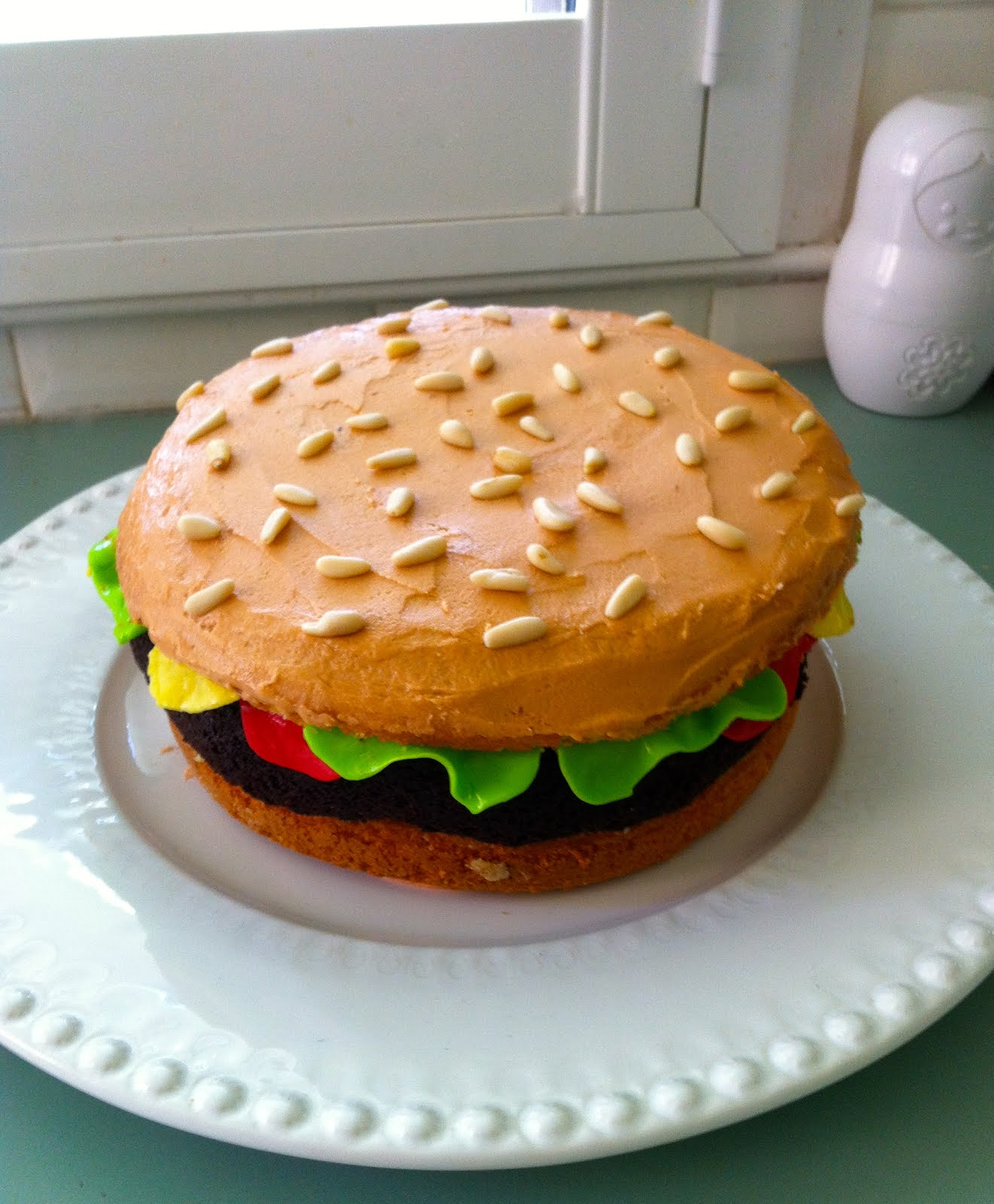 Giggleberry Creations Burger Birthday Cake
