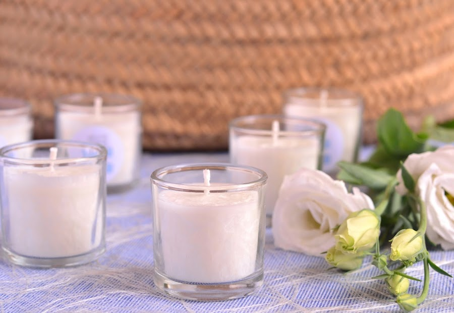 detalles de bautizo velas perfumadas