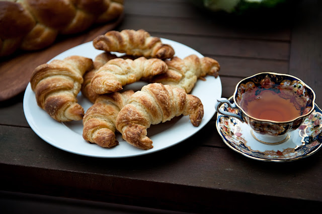 Croissants for Sunday Tea