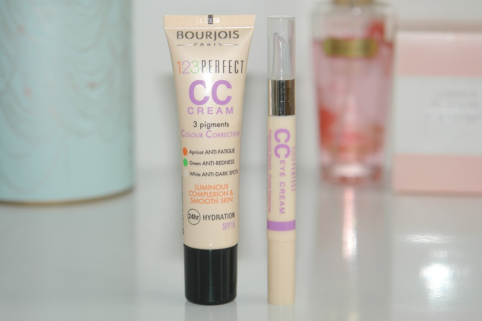 Bourjois 123 Perfect CC Cream and Eye Cream, Bourjois, concealer, foundation, make up, review, beauty, blogger, UK, Bourjois 123 Perfect Colour Correcting Cream, Bourjois 123 Perfect CC Eye Cream Concealer