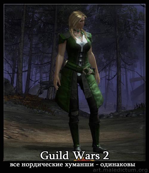 Guild Wars 2 - Норны с женскими гендерными признаками выглядят одинаково