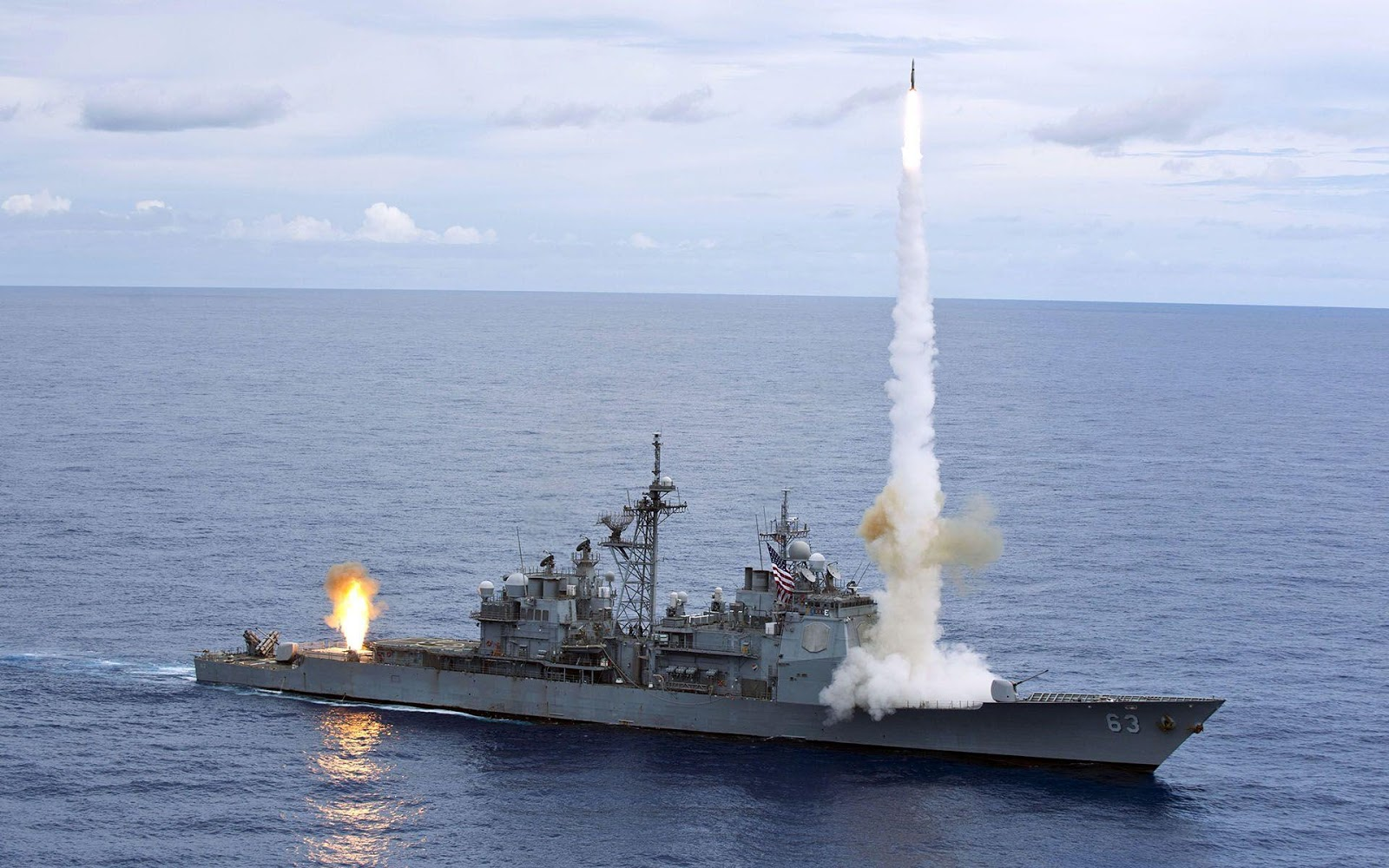 Battleship launch a Missile