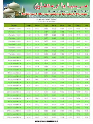 Jadwal Imsakiyah Purwakarta Tahun 2015 (1436 H)
