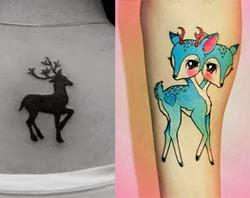 Tatuagens fofas - tatuagem de gazela
