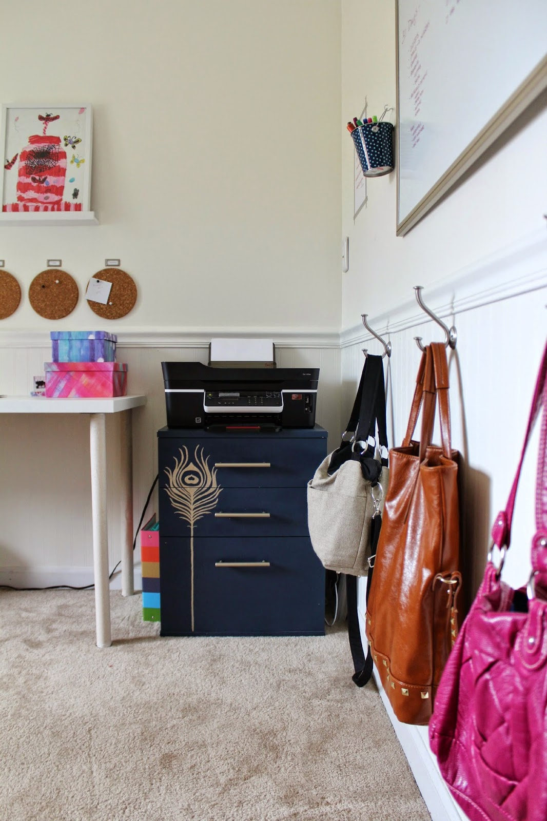 fantastic DIY office makeover!