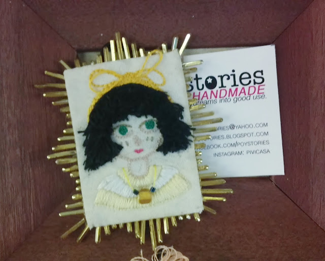 poystories embroidered brooch