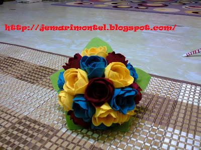 bunga tangan felt ros untuk akad nikah