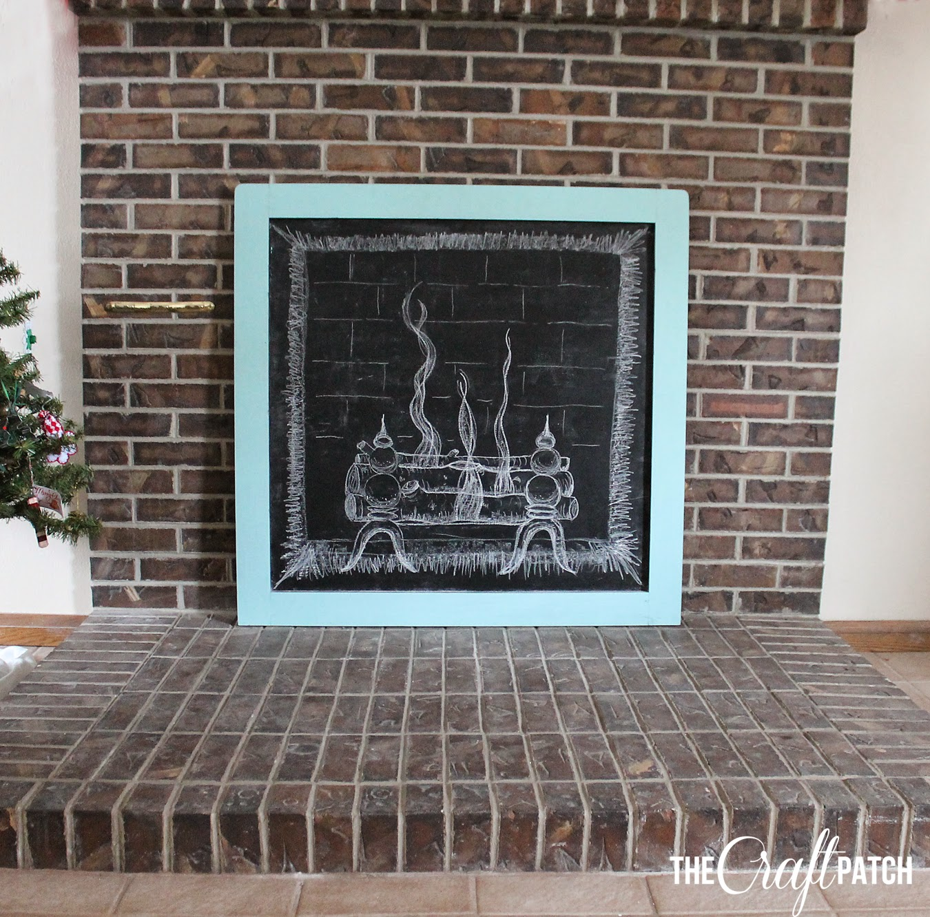 The Craft Patch: Cozying Up The Fireplace with a Chalkboard
