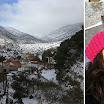 «Λευκή» Πρωτοχρονιά με χιόνια στην Καρίτσα
