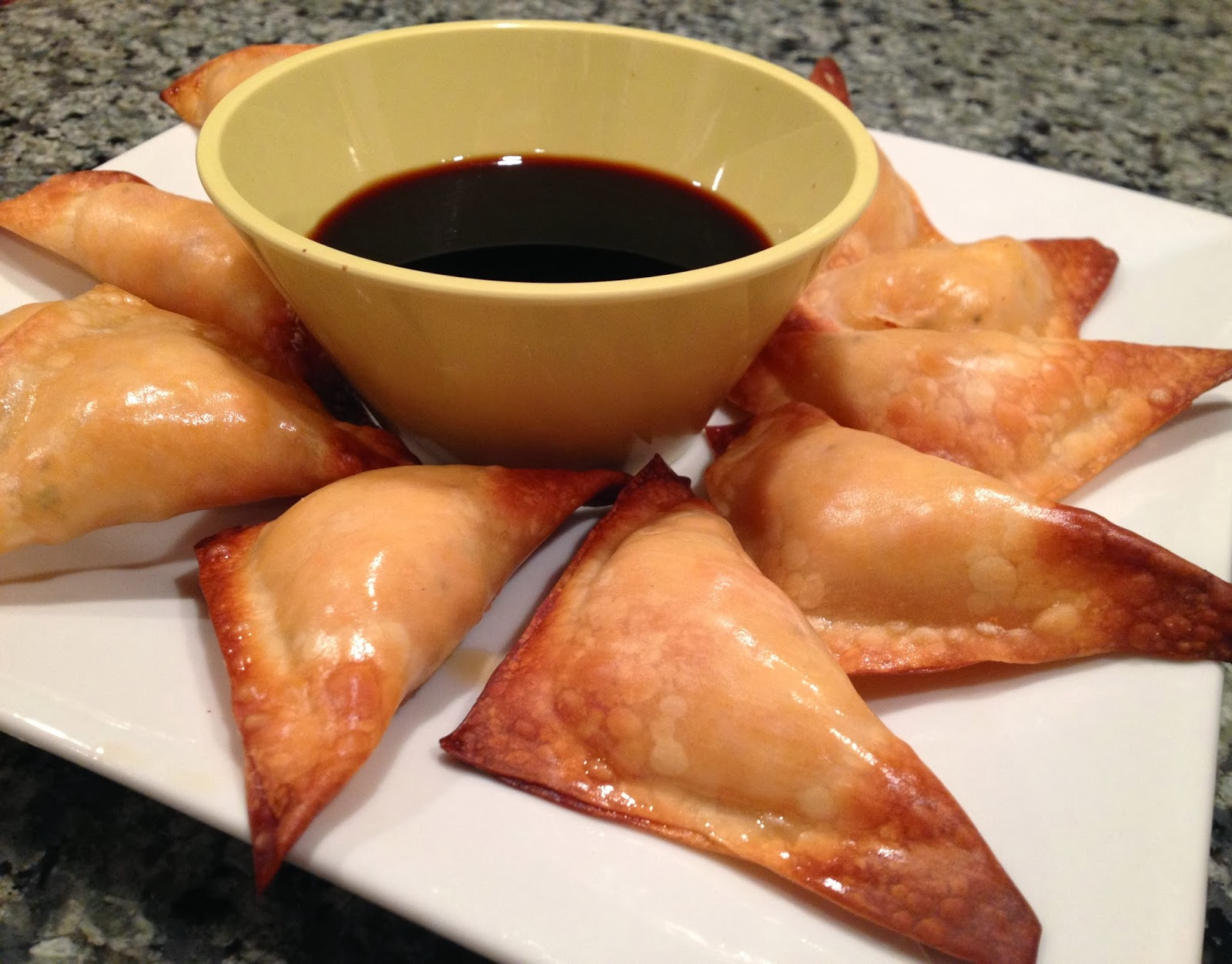 Baked Sweet Potato and Ricotta Potstickers