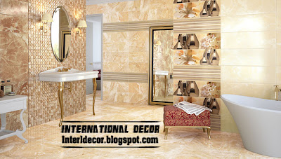 luxury bathroom tile design, wall tiles