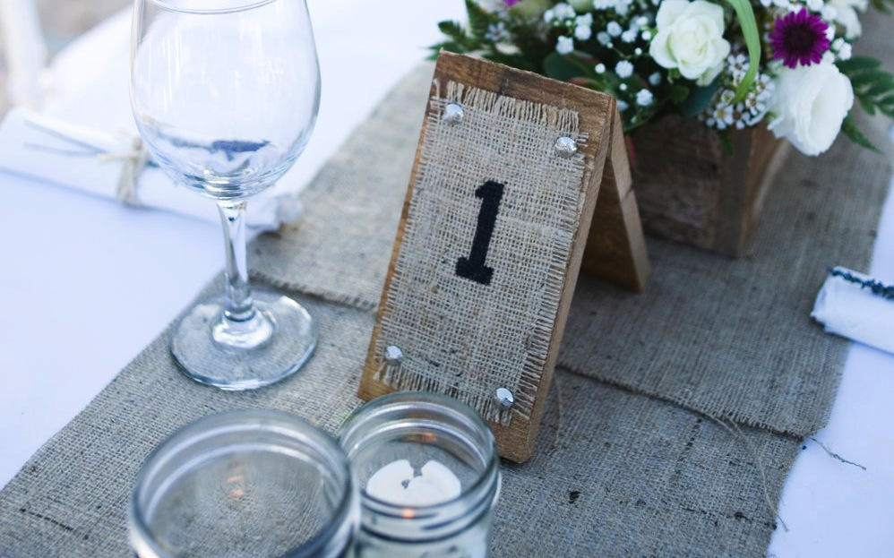 Beautiful Bridal Rustic Wedding Table Numbers