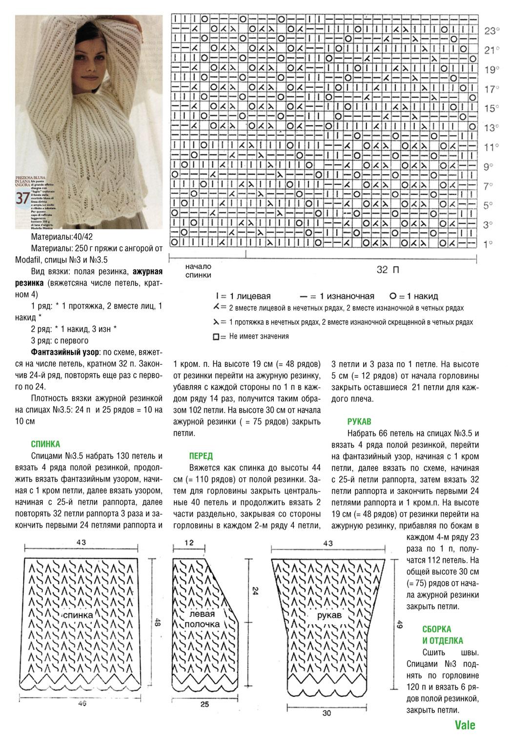 Схема вязания спицами ажурные узоры схема вязанияспицами 39