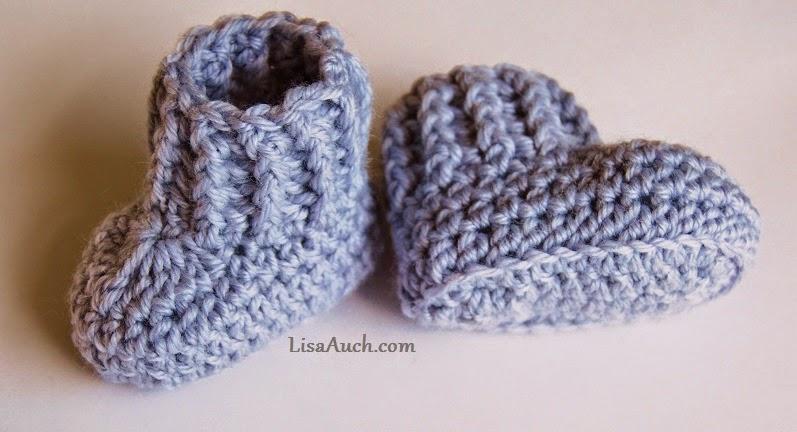 10 Minute Easy Crochet Booties Pattern Free Crochet Patterns