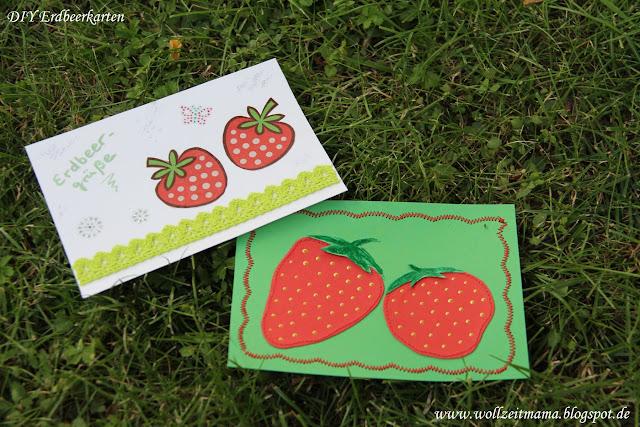 DIY Erdbeerkarten basteln