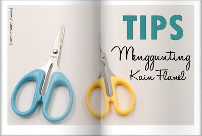 menggunting, memotong, kain, flanel, tips