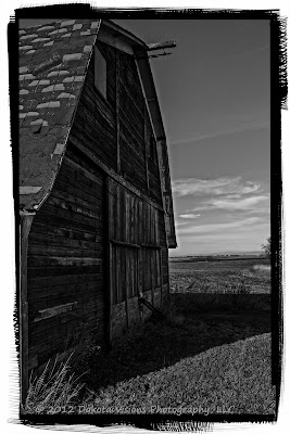 old barn, barn door, South Dakota, Perfect B&W