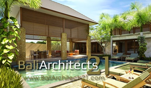 Tampak belakang + garden pool area rumah mewah 460 m2 Hetty Salatiga_resize