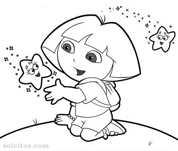 Dora exploradora para colorear - Imagui