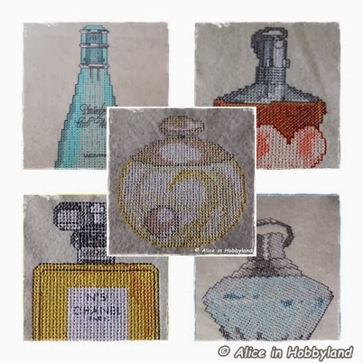 Borduurpatronen Parfumflesjes