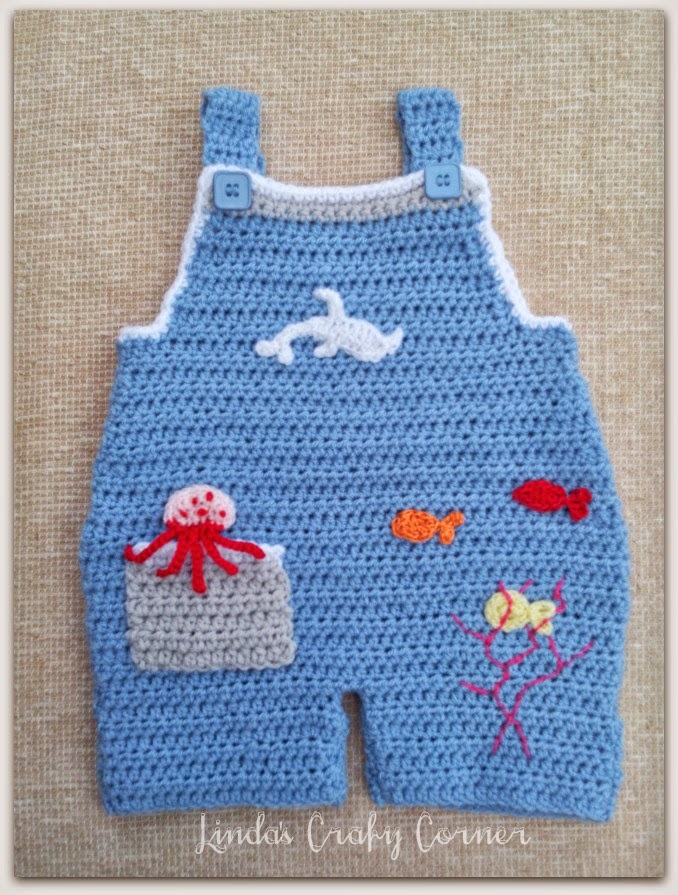Baby Boy Dungarees Knitting Pattern : .Lindas Crafty Corner: Baby Dungaree Pattern