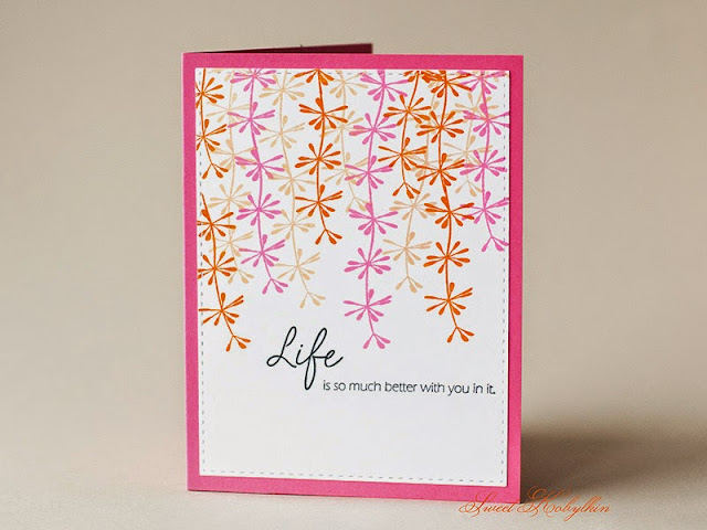 Greeting Card with Life from Papertrey Ink by Sweet Kobylkin