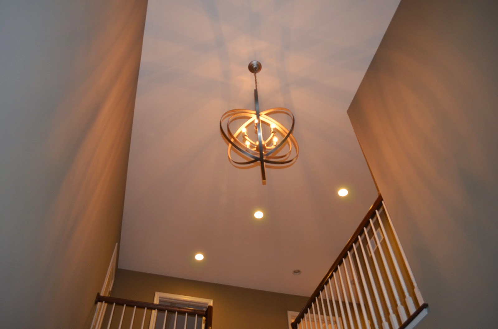 Lighting For Two Story Foyer : House in the heights parade of homes recap