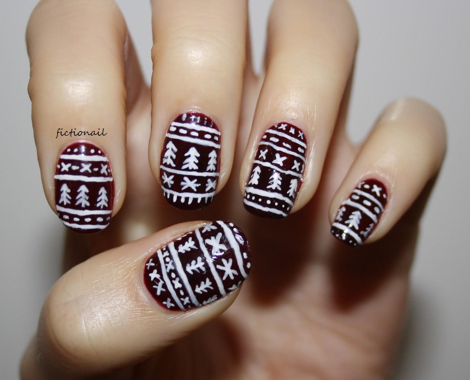 Festive Jumper/Sweater Pattern Nails