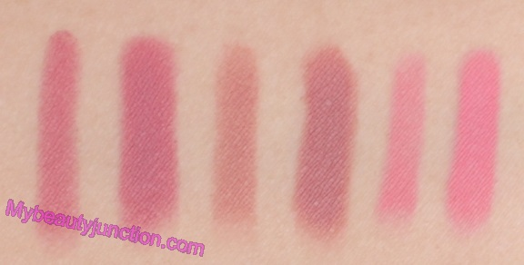 Lorac Pro Matte Lip Color review, swatches: Pink, Mauve and Rose Taupe