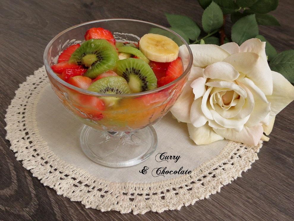 Curry y chocolate macedonia de frutas con zumo de naranja - Macedonia de frutas thermomix ...