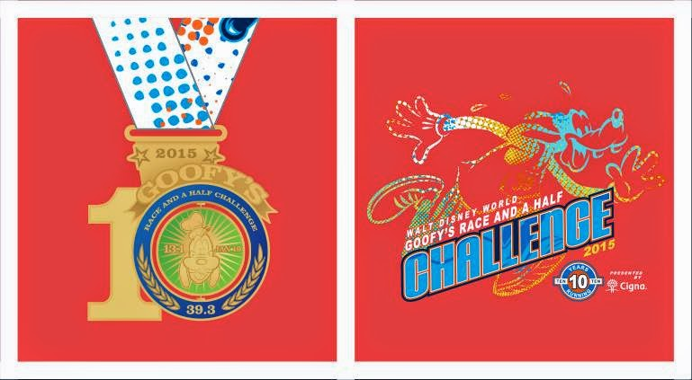 Goofy Challenge 2015 Medal and Shirt