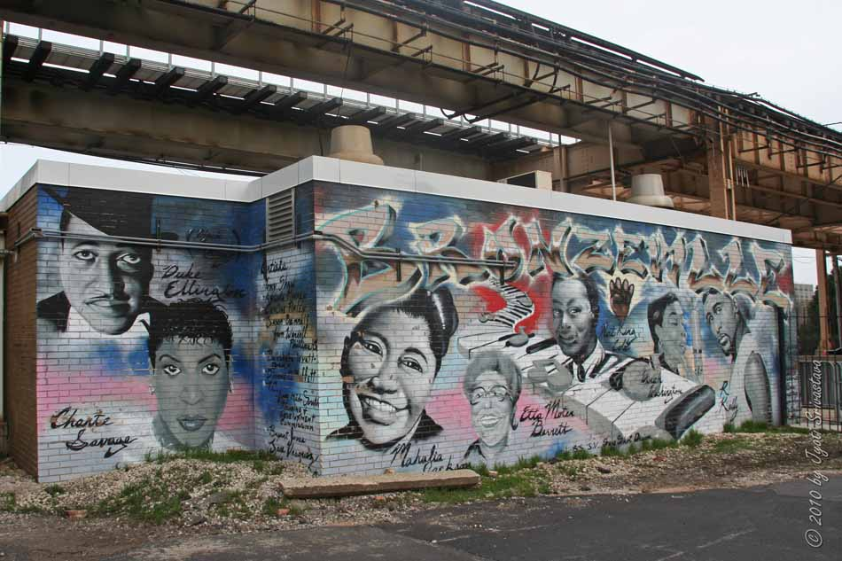 Public art in chicago mural bronzeville for Mural in chicago illinois
