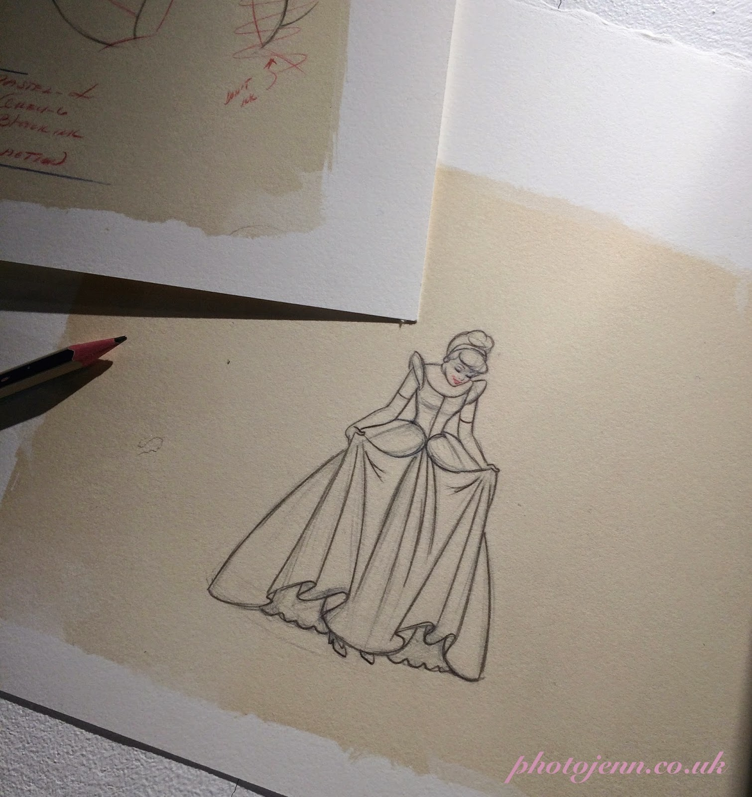Cinderella-exhibition-disney-film-original-sketch