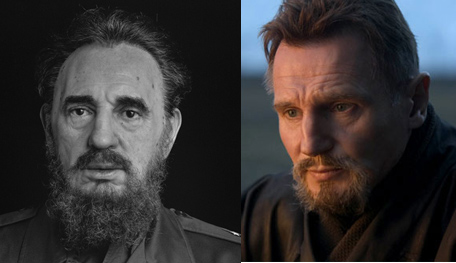 Fidel Castro And Liam Neeson