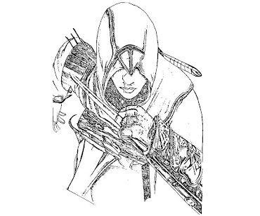 #2 Assassin's Creed Coloring Page