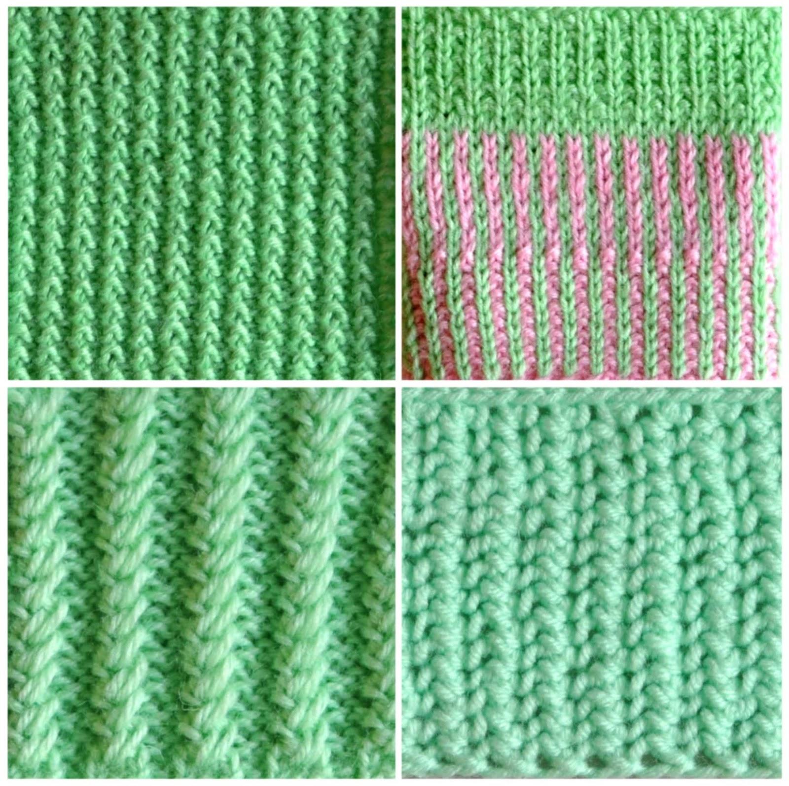 Вязание на спицах резинка рубчик