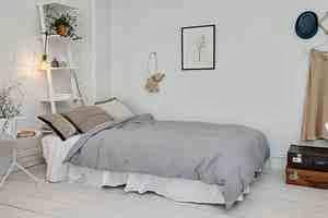 Strefa sypialni zaaranżaowana w stylu również skandynawskim