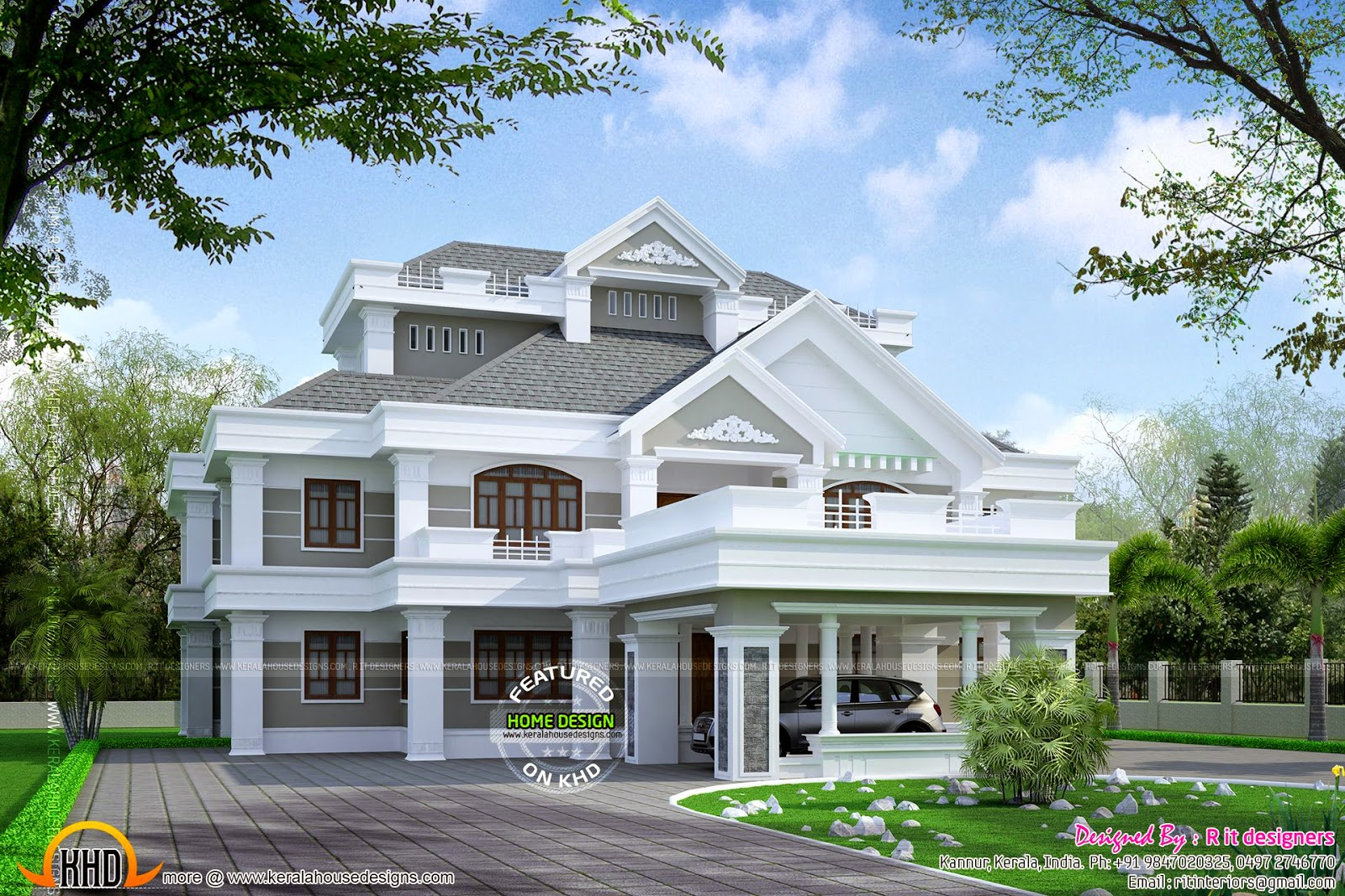 Super Luxury Residence Elevation Kerala Home Design And
