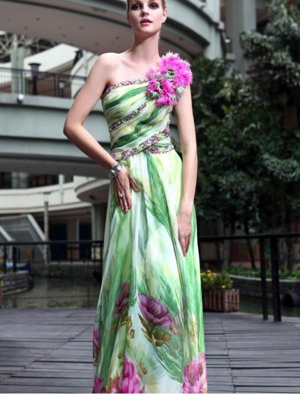 Print prom dress