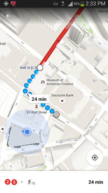 usando o Google Maps para se orientar em NYC