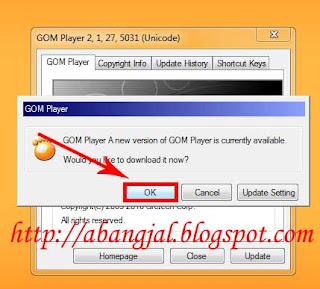 Cara Update GOM Player, Cara memperbarui versi aplikasi pemutar vidio, video, upgrade, install.