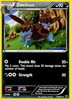 Zweilous Noble Victories Pokemon Card